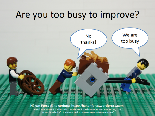 ¿Demasiado ocupados para mejorar?